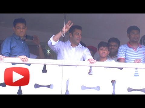 his - Share on Facebook : http://goo.gl/ZAHdYU Tweet now : http://goo.gl/fxYiDf Today is EID and Salman Khan interacted with his fans at his Bandra home.Watch the video and today might be Salman's...