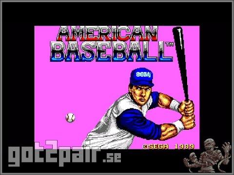 American Baseball - Master System