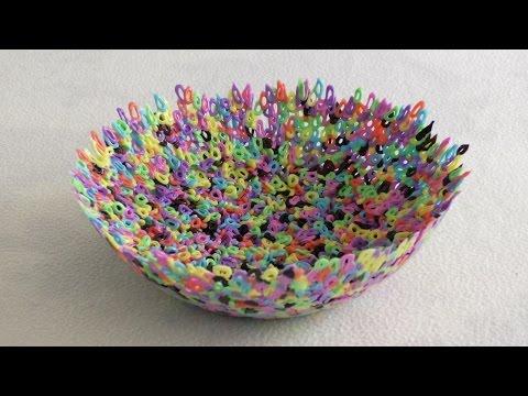Тарелка из Бусин Термомозаики / Plate of HAMA Beads (видео)