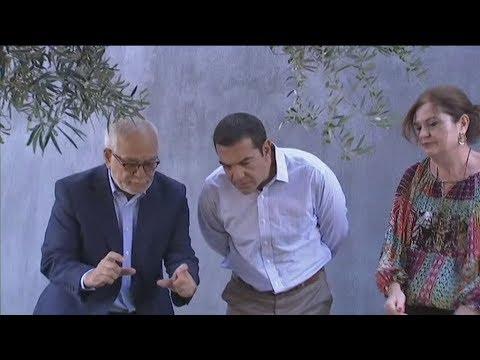 Ξενάγηση  του πρωθυπουργού στους κήπους της Apivita