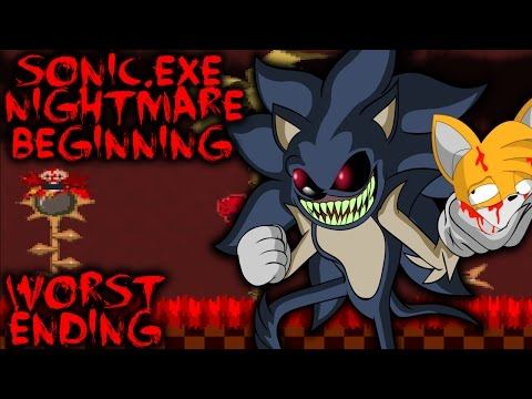 SONIC.EXE NIGHTMARE BEGINNING (UPDATED) - WORST ENDING - BEST SONIC.EXE GAME! [Sonic Horror Game]