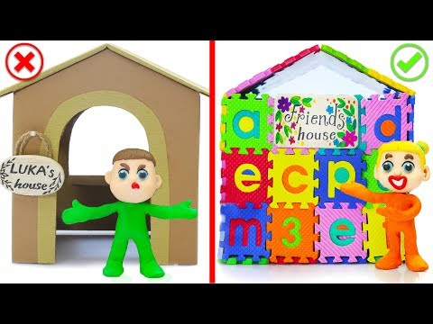 SUPERHERO BABY BUILDS ABC PLAYHOUSE 💖 Play Doh Cartoons For Kids