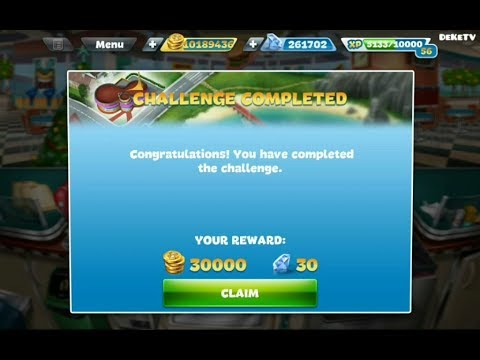 Cooking Fever Fast Food Court Challenge Part 5 | Completed The Challenge 15 Levels