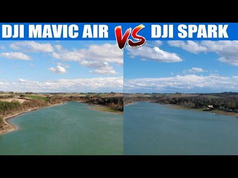 Quel drone choisir ? Mavic AIR VS Spark - Comparatif vidéo [ footage comparison  ]