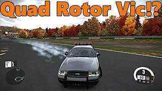 Forza Motorsport 7 THE DRIFT POLICE! Quad Rotor Swapped Crown Vic Drift Build