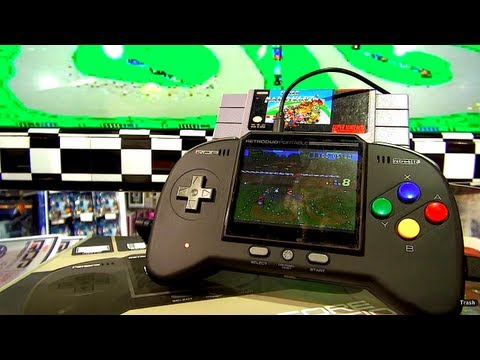 handheld console - The RetroDuo Portable allows you to play 16-bit SNES games and 8-bit NES games. Version 2.0 Core Multi-player capabilities with two controllers, Stand up you...