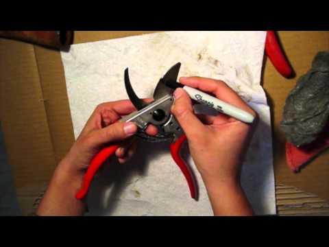 Sharpening Hand Pruners