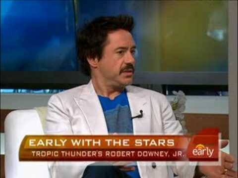 Robert Downey Jr. On 'thunder'