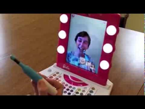 Barbie Digital Makeover Mirror Vanity.  Hands-On Review