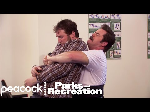 Ron Swanson's Self-Defense Class - Parks and Recreation