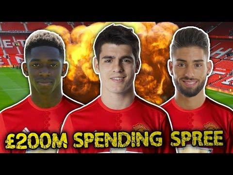 Video: Manchester United To Go On Huge £200 Million Spending Spree?!   Transfer Talk