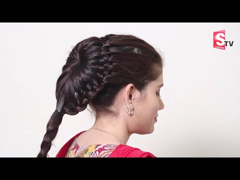 Beautiful Flower Bun Hairstyle  Party, Wedding,Office  Amazing Hairstyles  Easy Hairstyles