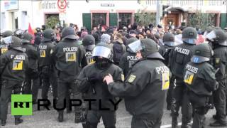 Weinheim Germany  City new picture : Germany: More than 100 arrested as clashes erupt over NPD conference in Weinheim