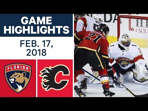 Video: NHL Game Highlights | Panthers vs. Flames - Feb. 17, 2018