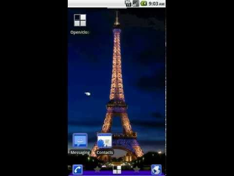 Video of Paris ADW Theme