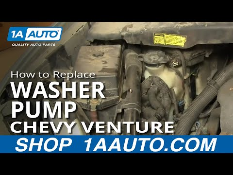 How To Install Replace FRONT Washer Pump Chevy Venture Pontiac Montana 96-04 1AAuto.com