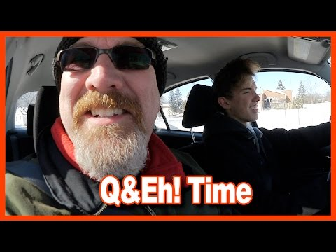 Snow Day, Magic Mitch, Ben Drives to Work, Workout, Creed, Q&Eh! Time - Ken's Vlog #609