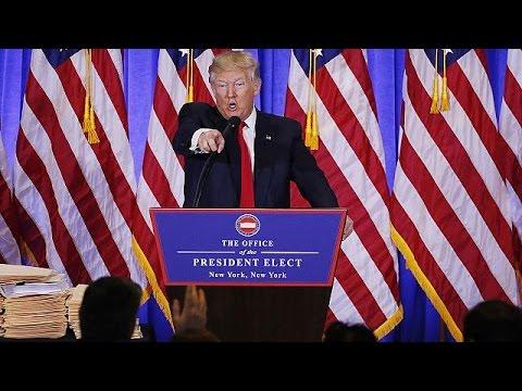 Дональд Трамп о хакерах, компромате и стене на границе с Мексикой (видео)