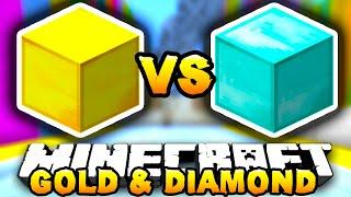 Minecraft GOLD VS DIAMOND PARKOUR! (Huge Jumps) w/ PrestonPlayz&MrWoofless