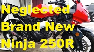 9. Neglected Brand New Motorcycle - 2012 Kawasaki Ninja 250R