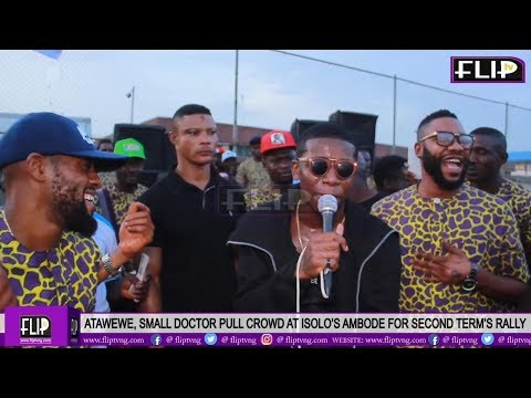 ATAWEWE, SMALL DOCTOR PULL CROWD AT OSHODI'S AMBODE FOR SECOND TERM'S RALLY