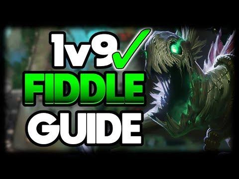 HOW TO FIDDLESTICKS JUNGLE 1v9 FOR BEGINNERS | League of Legends