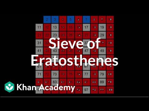 Sieve of Eratosthenes (video) | Khan Academy