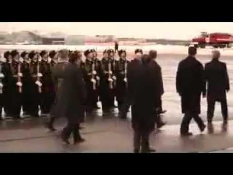 Abdelaziz bouteflika en russie (accompagnement par l'armée russe
