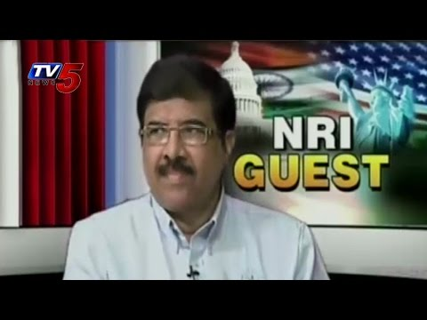 NRI Guest With US Telugu Schools Chairman & Managing Director : TV5 News