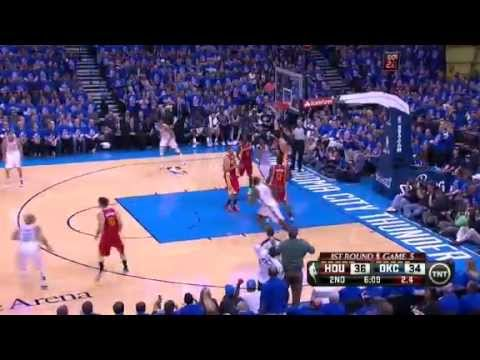 thunder - James Harden scores 31 points and grabs eight rebounds as the Rockets shock the Thunder in Game 5.