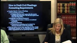 How to draft Civil Pleadings