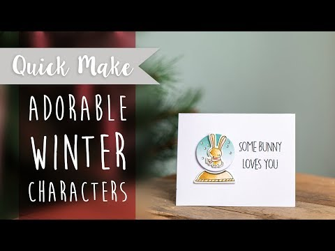 How to Create a Winter Character Christmas Card - Sizzix