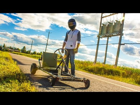 homemade - I show you how I built my homemade Go-Kart from other people's garbage. The Go-Kart ended up going at 50km/h! Thanks to Can't Stop Won't Stop for letting us ...
