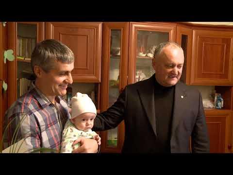 Șeful statului a vizitat un cuplu longeviv și o familie cu mulți copii din orașul Bălți
