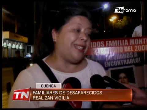 Familiares de desaparecidos realizan vigilia