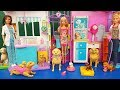 Barbie Playset com  Bichinhos Tia Fla