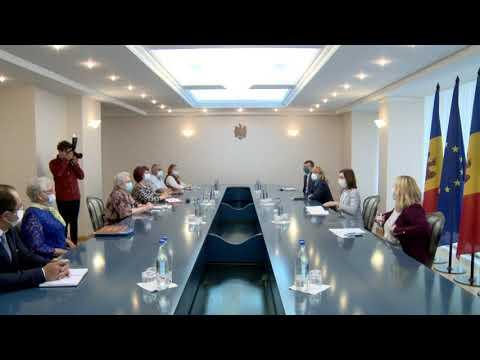 Președintele Maia Sandu s-a întâlnit cu un grup de foști deportați și urmași ai acestora
