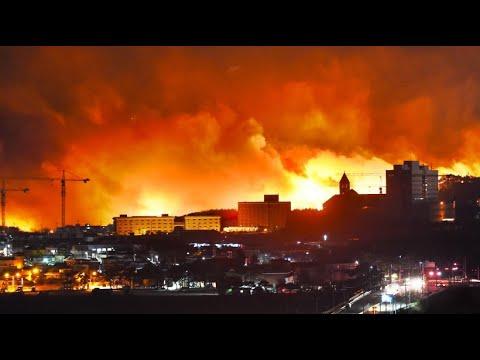Südkorea: Riesige Waldbrände - der Notstand wurde ausgeru ...