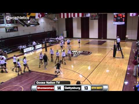 Washington College Volleyball - Winning Point v. Gettysburg