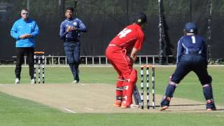 Highlights from Scotland's opening ICC European Qualifier in Jersey as they defeated Denmark by 72 runs. Video by Ian Potts.