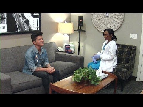 TheEllenShow - For her classic hidden camera prank, Ellen sent a nurse into Bruno Mars' dressing room for a medical session she'll never forget! Check out what happened, here!