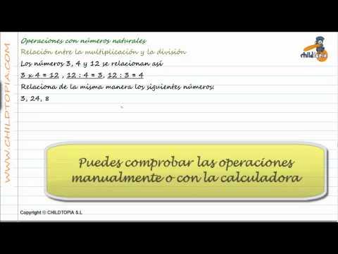 Vídeos Educativos.,Vídeos:Relación multiplicar / dividir 3
