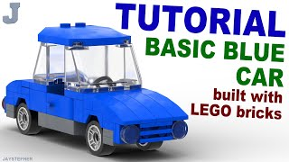 A complete tutorial of a Basic Blue Car built with Lego bricks, and is scaled for minifigures. The 60 parts needed to complete the Basic Blue Car are listed below.Content in this video is considered as family-friendly. Be respectful to others. All inappropriate comments will not be tolerated will be removed.JAYSTEPHER am not affiliated with Lego nor the Lego Group.Parts List:Bright Blue3 - 1 by 2 Brick (300423)1 - 1 by 4 Brick (301023)4 - 1 by 4 Brick with Bow (4540048)1 - 2 by 4 by 2/3 Plate with Bow (4651237)4 - 1 by 1 Plate (302423)1 - 1 by 2 Radiator Grill (241223)3 - 1 by 2 Plate (302323)1 - 1 by 4 Flat Tile (243123)6 - 1 by 2 by 2 Corner Plate (242023)3 - 1 by 4 Plate (371023)2 - 1 by 2 by 1 by 4 Angle Plate (243623)1 - 1 by 3 by 1 Right Door (382123)1 - 1 by 3 by 1 Left Door (382223)1 - 2 by 2 by 2 Seat (407923)2 - 2 by 4 y 2/3 Mudguard Plate (4518605)1 - 4 by 4 by 2/3 Hood Plate (4193072)1 - 1 by 2 Steering Console (9566)Dark Stone Grey4 - 1 by 1 Plate (4210719)2 - 1 by 4 Plate (4211001)1 - 4 by 12 by 2/3 Vehicle Chassis Plate (4259673)White1 - 1 by 2 Flat Tile (306901)Black2 - 2 y 2 Plate with Double Bearing (460026)4 - Ø11.2 by 6.2 Narrow Rim With Hole (4246900)4 - Ø14.58 by 6.24 Low Narrow Tire (4246901)Transparent2 - 1 by 1 Clear Round Flat Tile (4650498)2 - 2 by 4 by 2 Clear Windscreen (382310)2 - 1 by 1 Red Round Flat Tile (4646864)Check out my official fan pages:SECOND CHANNEL: https://www.youtube.com/JLNRawFACEBOOK: https://www.facebook.com/jaystepherTWITTER: https://twitter.com/jaystepherINSTAGRAM: http://instagram.com/jaystepherJAYSTEPHER: http://www.jaystepher.com/GOOGLE+: https://plus.google.com/+jaystepher/postsYOUNOW: https://www.younow.com/JAYSTEPHER