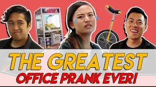 Video THE GREATEST OFFICE PRANK WITH TMALL PRODUCTS + GIVEAWAY! | TSL Vlogs MP3, 3GP, MP4, WEBM, AVI, FLV Oktober 2018
