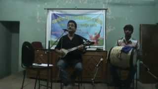 Bolo Sadhu Kishe Hobe by Premangshu Das with Babai Das on Dhol