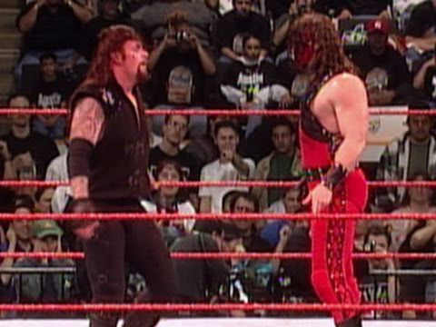 Kane sets The Undertaker's casket on fire