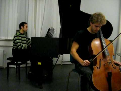 Violoncello - This is my friend Johan playing the violoncello. We choosed this piece as its one of the most famous theme in the world. If you find some errors, then please...