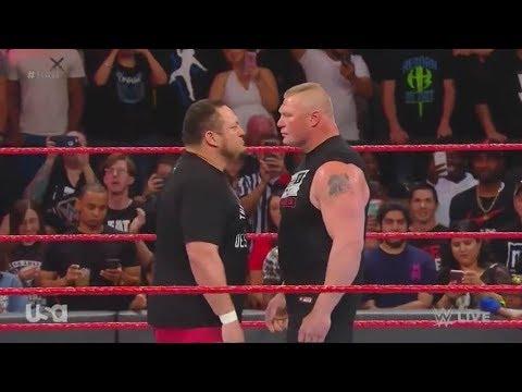 Samoa Joe Attacks Brock Lesnar: Raw June 12 2017