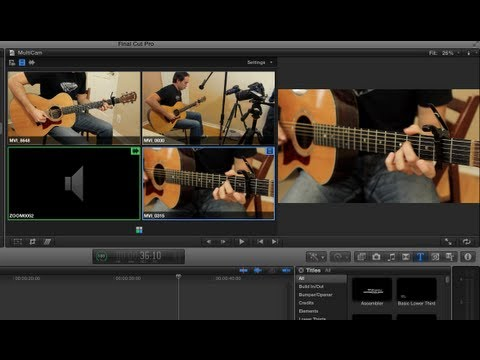 final cut pro x - How To: Final Cut Pro X Multicam Editing (Tutorial) Final Cut Pro X's 10.0.3 update brought a slew of new features including Multicam editing which was heavi...