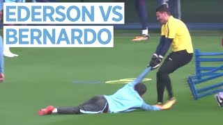 Video EDERSON VS BERNARDO SILVA | Man City vs Shakhtar Donetsk | Champions League Training MP3, 3GP, MP4, WEBM, AVI, FLV Oktober 2017